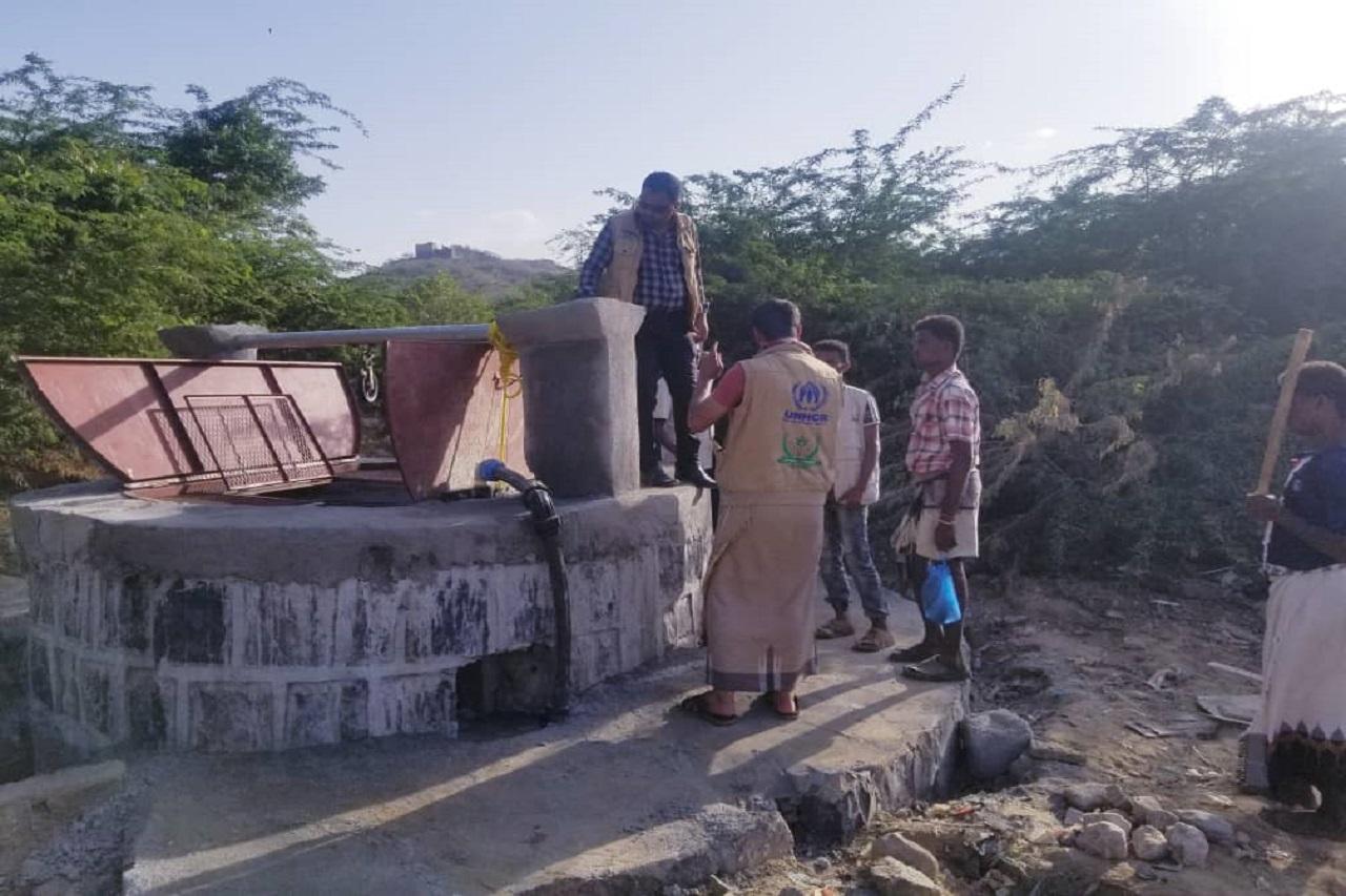 إعادة تأهيل بئر وإنشاء نقطة مياه تستفيد منها 175 أسرة في مديرية الكعيدنة - محافظة حجة