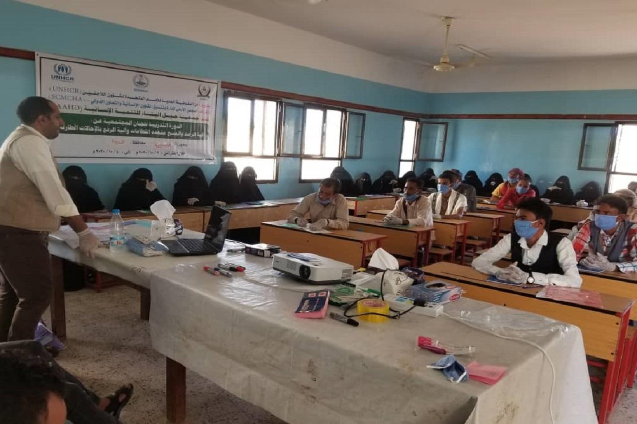 تدريب وتأهيل اللجان المجتمعية في مشروع إدارة وتنسيق المخيمات